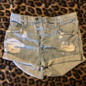Carmar high-waisted shorts